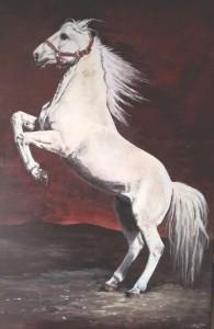 Cheval lusitanien d'Alain Fines Peint par Catherine Fines-Sauvageot