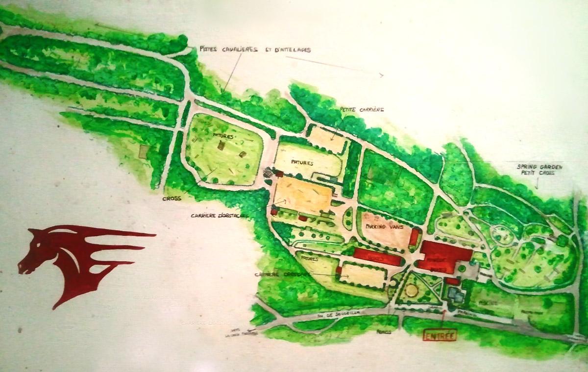 Plan Club Hippique de Vigoulet-Auzil